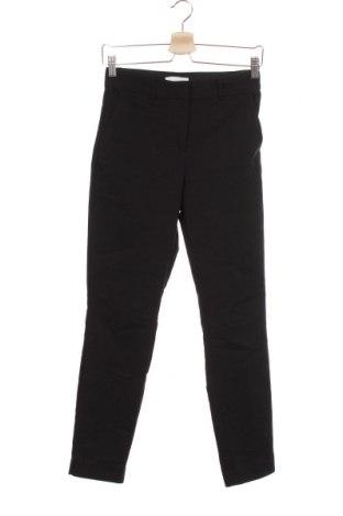 Дамски панталон H&M, Размер XS, Цвят Черен, 50% памук, 47% полиестер, 3% еластан, Цена 5,78лв.