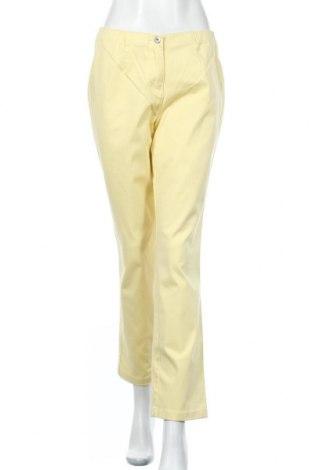 Дамски панталон Helena Vera, Размер M, Цвят Жълт, 97% памук, 3% еластан, Цена 7,41лв.