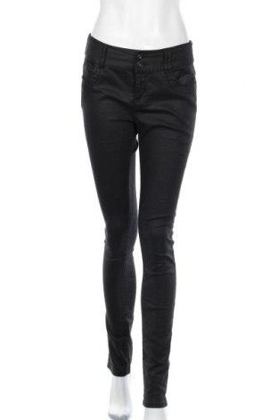 Дамски панталон La Redoute, Размер M, Цвят Черен, 66% памук, 31% полиестер, 3% еластан, Цена 7,35лв.