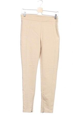 Дамски панталон Mango, Размер M, Цвят Бежов, 56% памук, 41% полиестер, 3% еластан, Цена 13,64лв.