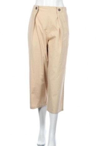 Pantaloni de femei Mango, Mărime L, Culoare Bej, Bumbac, Preț 18,42 Lei