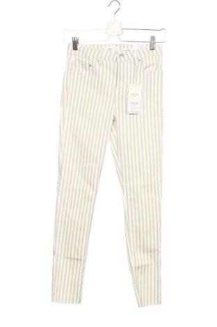 Дамски панталон Mango, Размер XS, Цвят Екрю, 98% памук, 2% еластан, Цена 19,72лв.