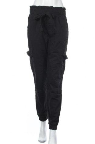 Дамски панталон ONLY, Размер M, Цвят Черен, Памук, Цена 23,82лв.