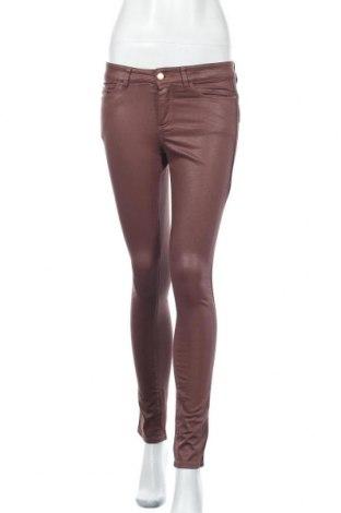 Дамски панталон One Step, Размер S, Цвят Кафяв, 97% памук, 3% еластан, Цена 23,66лв.