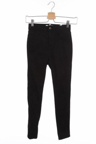 Дамски панталон Pull&Bear, Размер XXS, Цвят Черен, 70% памук, 28% полиестер, 2% еластан, Цена 42,00лв.