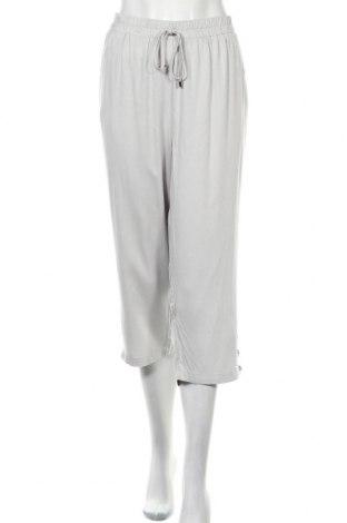Дамски панталон Rockmans, Размер XL, Цвят Сив, Вискоза, Цена 10,34лв.