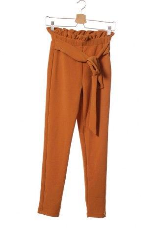 Дамски панталон SHEIN, Размер XS, Цвят Оранжев, 95% полиестер, 5% еластан, Цена 28,35лв.