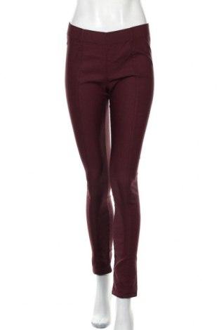 Дамски панталон Takko Fashion, Размер S, Цвят Червен, 65% памук, 32% полиестер, 3% еластан, Цена 22,68лв.