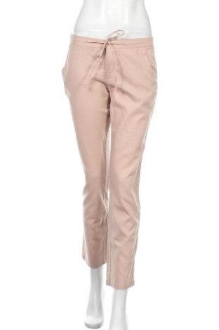 Дамски панталон Tamaris, Размер S, Цвят Розов, 55% лен, 45% памук, Цена 29,40лв.
