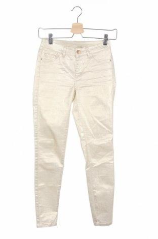 Дамски панталон Vila, Размер XS, Цвят Златист, 60% памук, 38% полиестер, 2% еластан, Цена 8,45лв.