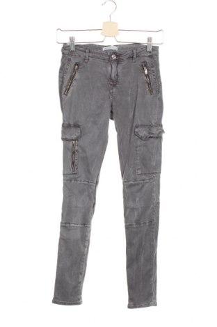 Дамски панталон Zara, Размер S, Цвят Сив, 60% лиосел, 37% памук, 3% еластан, Цена 8,14лв.