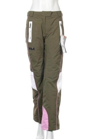 Дамски панталон за зимни спортове Fila, Размер S, Цвят Зелен, Полиамид, Цена 67,73лв.