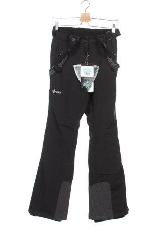 Дамски панталон за зимни спортове Kilpi, Размер XS, Цвят Черен, 100% полиестер, Цена 119,25лв.