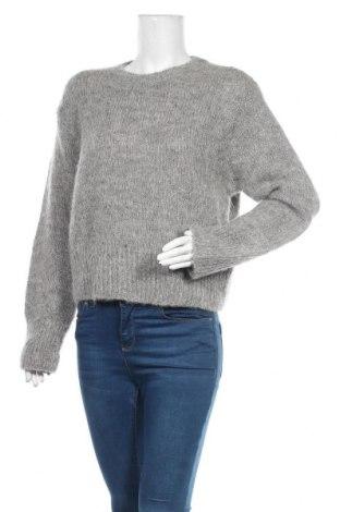 Pulover de femei H&M, Mărime XS, Culoare Gri, 48% lână, 32% lână de alpaca, 20% poliester, Preț 43,27 Lei