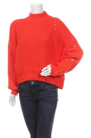 Pulover de femei H&M, Mărime S, Culoare Roșu, 90%acril, 10% lână, Preț 51,73 Lei