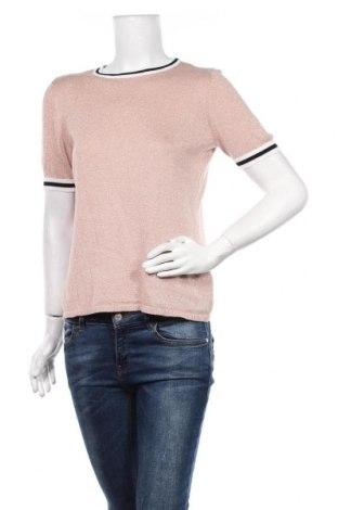 Pulover de femei ONLY, Mărime L, Culoare Roz, 81% viscoză, 19% fire din metal, Preț 20,72 Lei