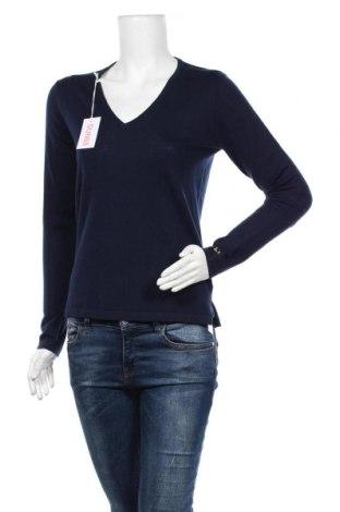 Дамски пуловер SUN68, Размер M, Цвят Син, 50% вълна, 50% памук, Цена 61,20лв.