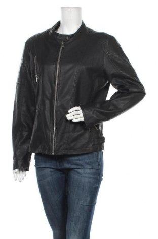 Дамско кожено яке Anastacia, Размер XL, Цвят Черен, Еко кожа, Цена 40,90лв.