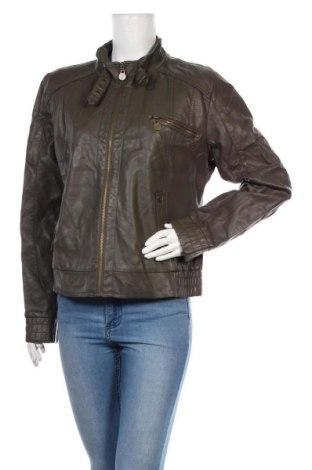 Дамско кожено яке Casa Blanca, Размер XL, Цвят Сив, Еко кожа, Цена 40,32лв.