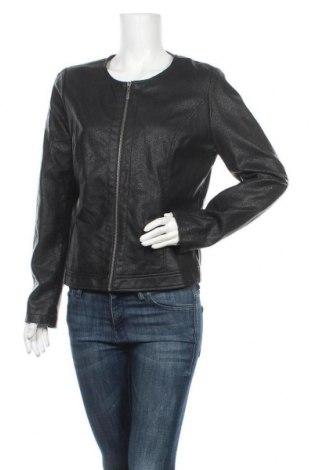 Дамско кожено яке Chris Line, Размер M, Цвят Черен, Еко кожа, Цена 35,28лв.