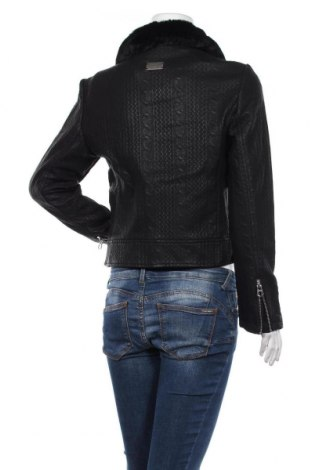 Дамско кожено яке Desigual, Размер M, Цвят Черен, Еко кожа, Цена 86,70лв.