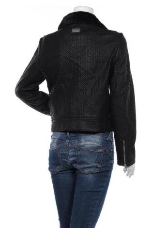Дамско кожено яке Desigual, Размер L, Цвят Черен, Еко кожа, Цена 86,70лв.