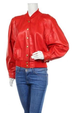 Дамско кожено яке ESCADA BY MARGARETHA LEY, Размер M, Цвят Червен, Естествена кожа, Цена 441,75лв.
