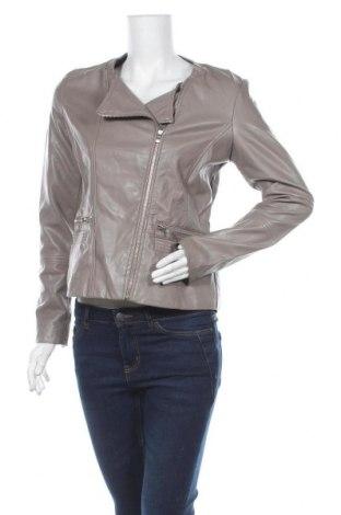 Дамско кожено яке Esmara, Размер M, Цвят Сив, Еко кожа, Цена 22,94лв.