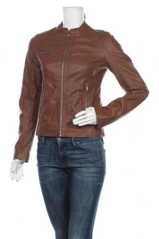 Дамско кожено яке Even&Odd, Размер S, Цвят Кафяв, Еко кожа, Цена 27,09лв.