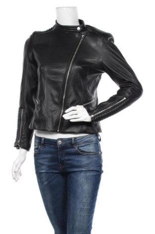 Дамско кожено яке H&M, Размер M, Цвят Черен, Еко кожа, Цена 25,20лв.