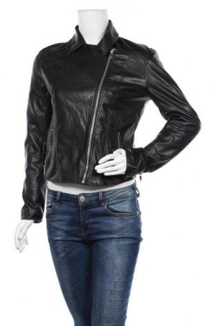 Дамско кожено яке H&M Divided, Размер M, Цвят Черен, Еко кожа, Цена 17,90лв.