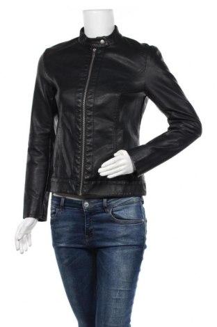 Дамско кожено яке Jacqueline De Yong, Размер S, Цвят Черен, Еко кожа, Цена 42,89лв.