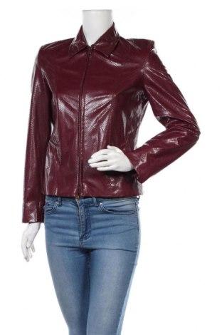 Дамско кожено яке Jones, Размер S, Цвят Червен, Еко кожа, Цена 28,12лв.