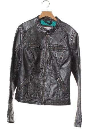 Дамско кожено яке S.Oliver, Размер XS, Цвят Сив, Еко кожа, Цена 20,58лв.