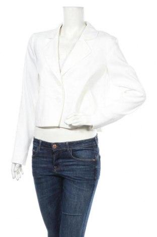 Дамско сако Betty & Co, Размер M, Цвят Бял, 56% лен, 28% полиестер, 14% вискоза, 2% еластан, Цена 45,15лв.