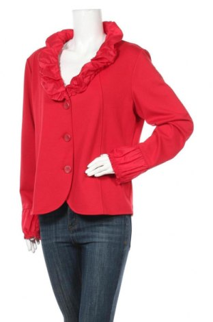 Дамско сако C.A.R.O, Размер L, Цвят Червен, 72% полиестер, 24% вискоза, 4% еластан, Цена 9,45лв.