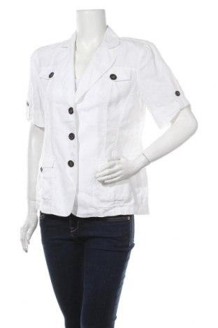 Дамско сако Madeleine, Размер L, Цвят Бял, Лен, Цена 15,49лв.