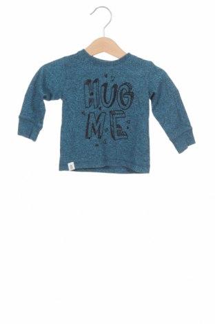 Детска блуза Reserved, Размер 2-3m/ 56-62 см, Цвят Син, 60% памук, 40% полиестер, Цена 9,00лв.