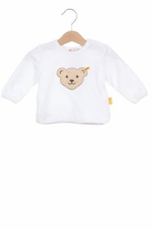 Детска блуза Steiff, Размер 2-3m/ 56-62 см, Цвят Бял, 80% памук, 20% полиестер, Цена 17,82лв.