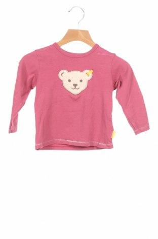 Детска блуза Steiff, Размер 12-18m/ 80-86 см, Цвят Розов, 95% памук, 5% еластан, Цена 13,86лв.