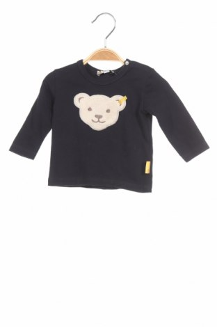Детска блуза Steiff, Размер 1-2m/ 50-56 см, Цвят Син, 95% памук, 5% еластан, Цена 13,86лв.