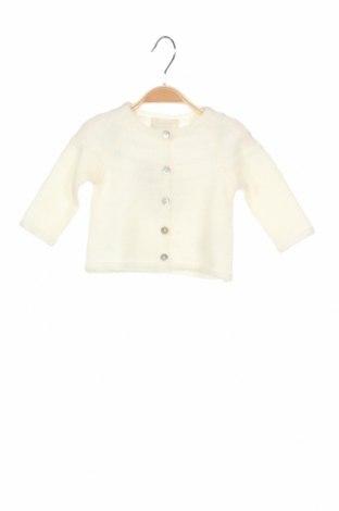 Детска жилетка Bonnet A Pompon, Размер 3-6m/ 62-68 см, Цвят Бял, 55% акрил, 30% полиамид, 15% мохер, Цена 26,70лв.