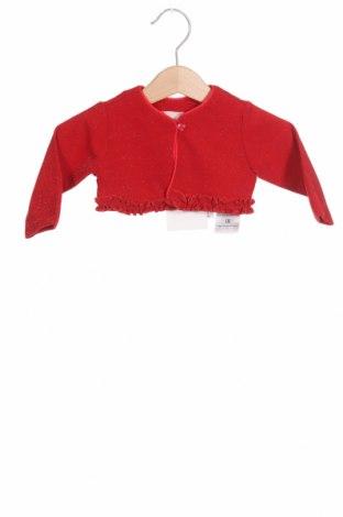 Pulover cu nasturi pentru copii Chicco, Mărime 2-3m/ 56-62 cm, Culoare Roșu, 80% poliester, 17% fire din metal, 3% elastan, Preț 103,62 Lei