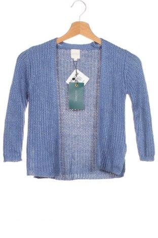 Pulover cu nasturi pentru copii Gocco, Mărime 3-4y/ 104-110 cm, Culoare Albastru, 72%acril, 28% bumbac, Preț 44,47 Lei