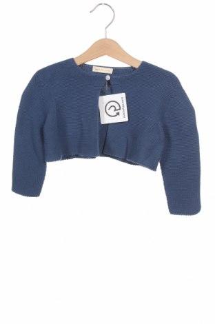 Pulover cu nasturi pentru copii Lola Palacios, Mărime 18-24m/ 86-98 cm, Culoare Albastru, Bumbac, Preț 53,19 Lei