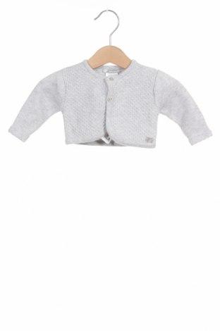 Pulover cu nasturi pentru copii Tutto Piccolo, Mărime 1-2m/ 50-56 cm, Culoare Gri, 75% bumbac, 20% poliamidă, 5% lână, Preț 59,87 Lei