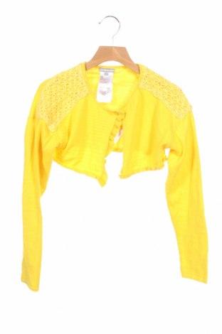 Детска жилетка Vertbaudet, Размер 9-10y/ 140-146 см, Цвят Жълт, Памук, Цена 14,40лв.