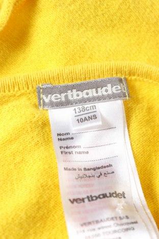 Pulover cu nasturi pentru copii Vertbaudet, Mărime 9-10y/ 140-146 cm, Culoare Galben, Bumbac, Preț 19,86 Lei