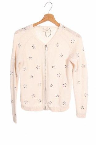 Pulover cu nasturi pentru copii Zara Knitwear, Mărime 11-12y/ 152-158 cm, Culoare Bej, Bumbac, Preț 30,40 Lei