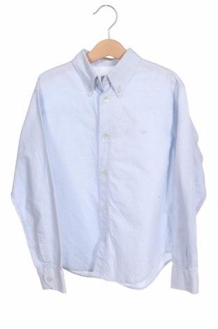 Dětská košile  Armani Junior, Velikost 7-8y/ 128-134 cm, Barva Modrá, Bavlna, Cena  214,00Kč